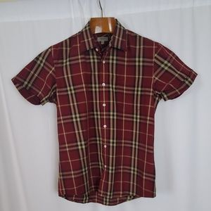 Burberry London Men's Plaid Short Sleeve Shirt